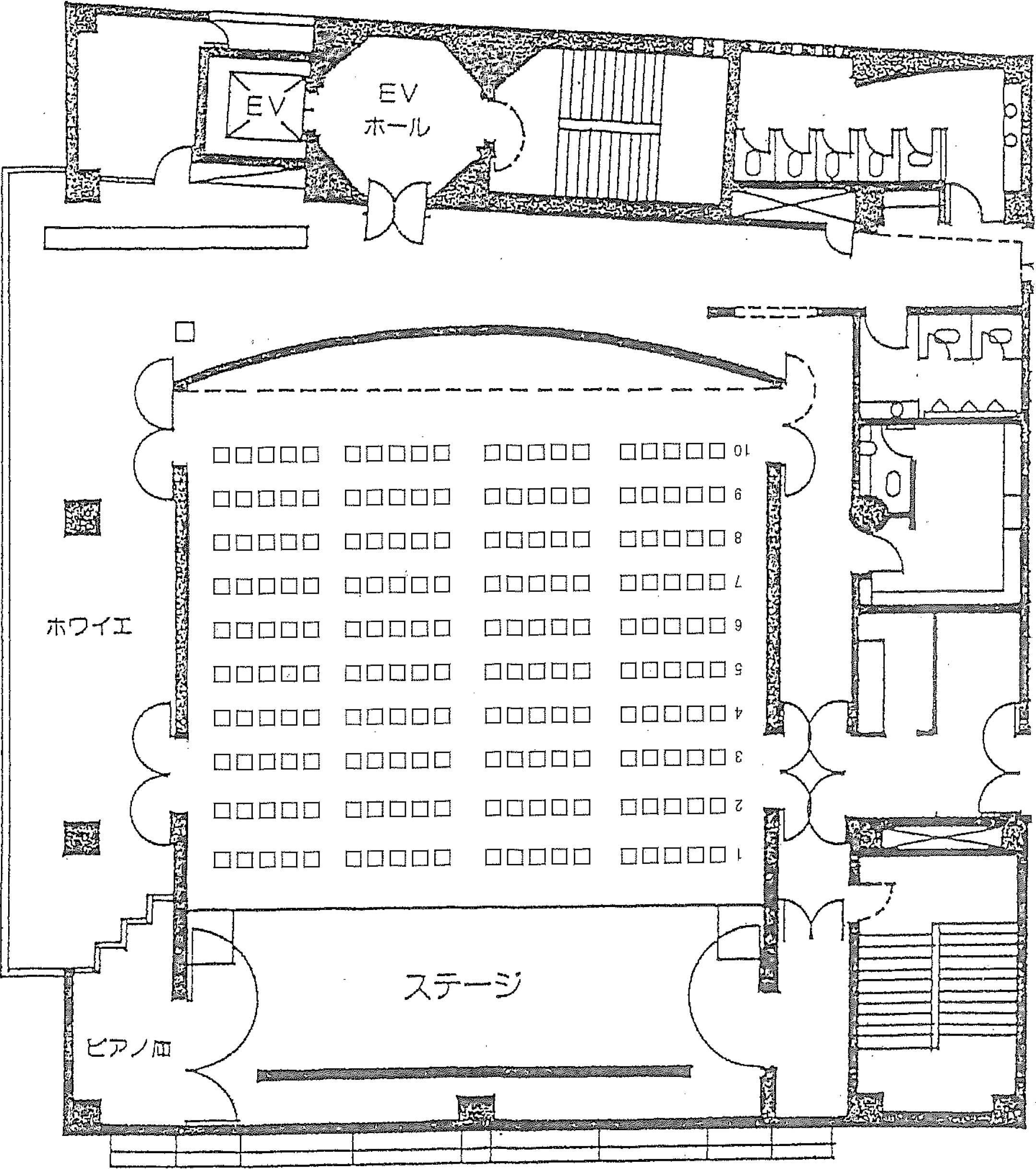 5階ホール座席表